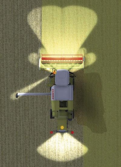 Освітлення. Зернозбиральний комбайн CLAAS AVERO 240/160