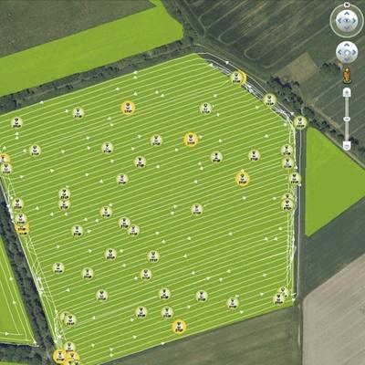 Картування поля. Зернозбиральний комбайн CLAAS TUCANO 580/570