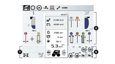 Монітор. Трактор CLAAS XERION 5000–4000