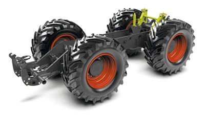 Ходова частина. Трактор CLAAS XERION 5000–4000