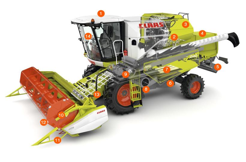 Зернозбиральний комбайн CLAAS AVERO 240/160