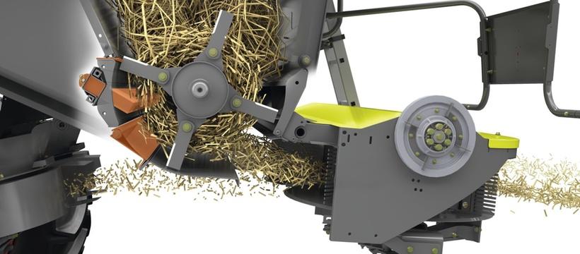 Подрібнювач соломи. Зернозбиральний комбайн CLAAS LEION 770-750