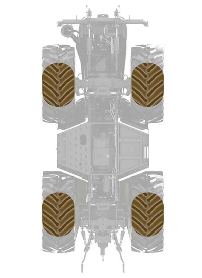 Шини. Трактор CLAAS XERION 5000–4000